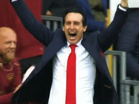 Unai Emery's class celebration as Aaron Ramsey finishes off outrageous team move