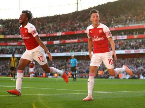 Arsenal star Alex Iwobi credits Mesut Ozil and Unai Emery with his improvement this season