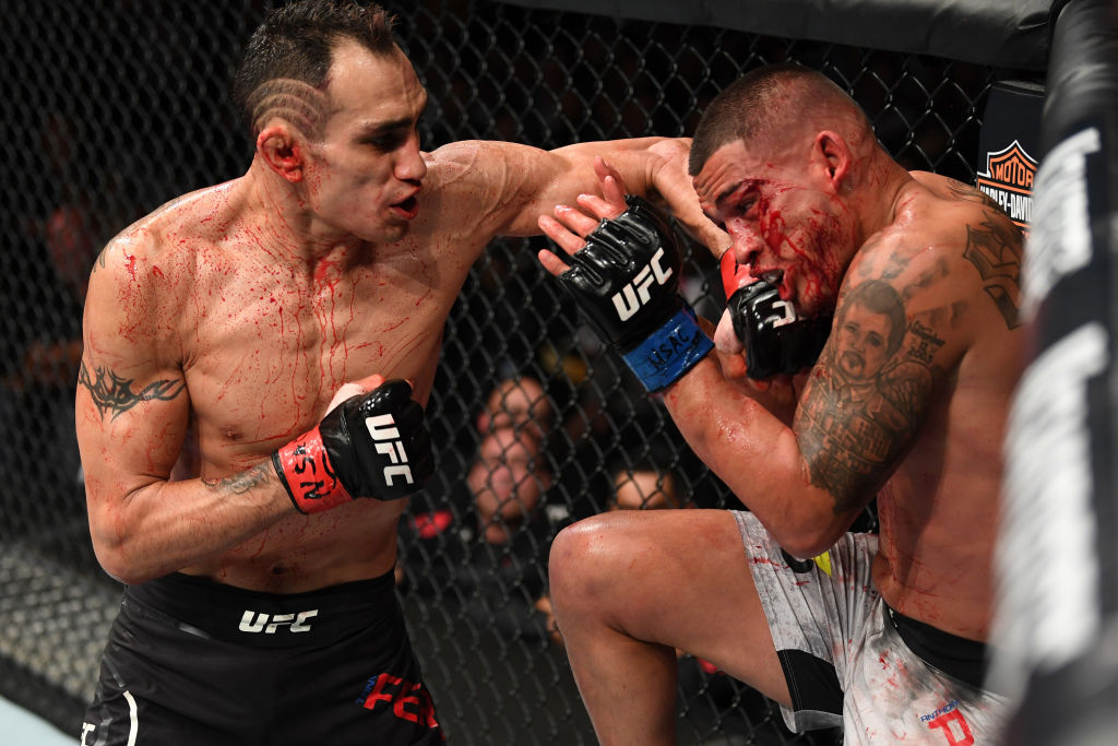 Tony Ferguson takes aim at Conor McGregor after bloody victory on UFC return