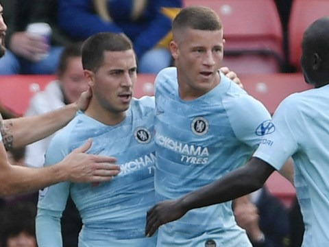 Ross Barkley reacts after Eden Hazard says he can be 'one of the best in the world'