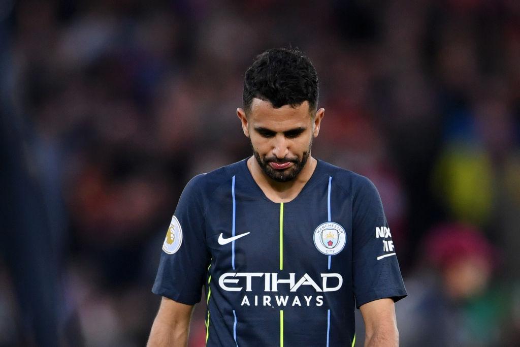 Manchester City boss Pep Guardiola reacts to Riyad Mahrez's shocking penalty miss v Liverpool