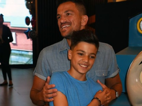 Peter Andre's son Junior is 'too cool' to hang out with the family because he's hit those teen years