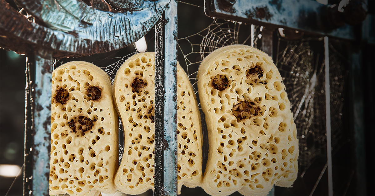 Asda is launching ghost crumpets for Halloween ASDA/Getty