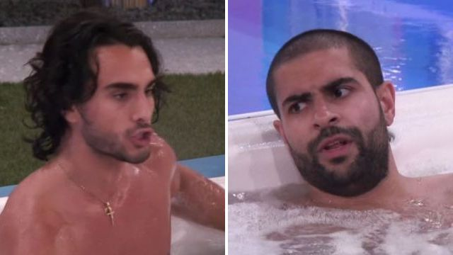Big Brother's Lewis F brands Akeem a 'hypocrite' and 'boring c**t' in fierce hot tub clash