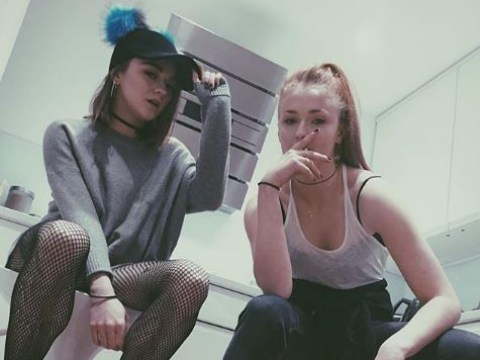 Sophie Turner and Maisie Williams used to 'smoke weed and sit in the bath' after filming Game Of Thrones