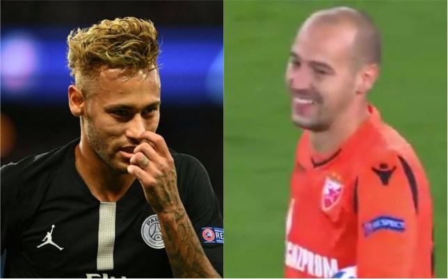 04b54a1fcfe7 Goalkeeper s reaction to Neymar s amazing free-kick for Paris Saint-Germain  is superb