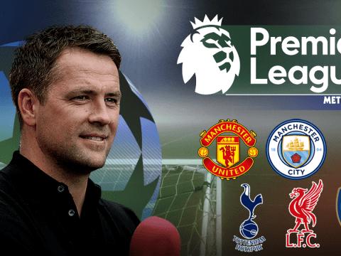 Michael Owen's Premier League predictions, including Liverpool v Man Utd & Southampton v Arsenal