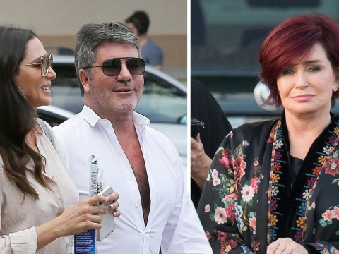 Simon Cowell ignores Sharon Osbourne's X Factor exit as he heads out with Lauren Silverman
