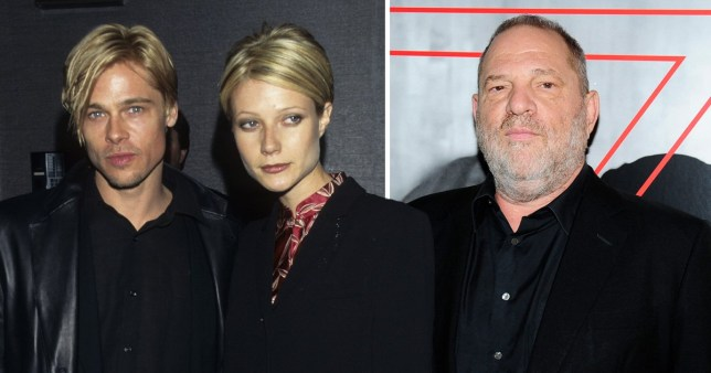 Brad Pitt, Gwyneth Paltrow and Harvey Weinstein.