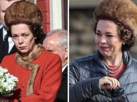 Olivia Colman is the spitting image of the Queen as she films Aberfan disaster visit for Netflix's The Crown