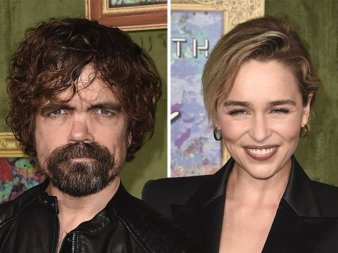 Emilia Clarke supports fellow Game of Thrones star Peter Dinklage at My Dinner With Herve premiere