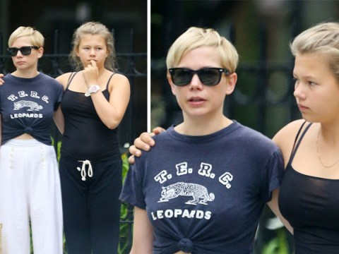Michelle Williams shares sweet cuddles with lookalike daughter Matilda on stroll in Brooklyn