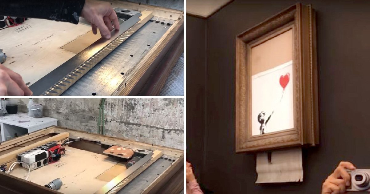 Banksy reveals he put shredder in artwork's frame years before it was auctioned