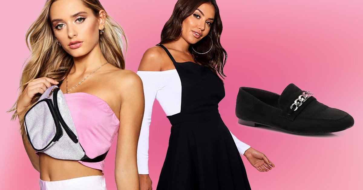 Boohoo is offering a 'meal deal' sale- that's a whole outfit, with shoes and a bag for £30