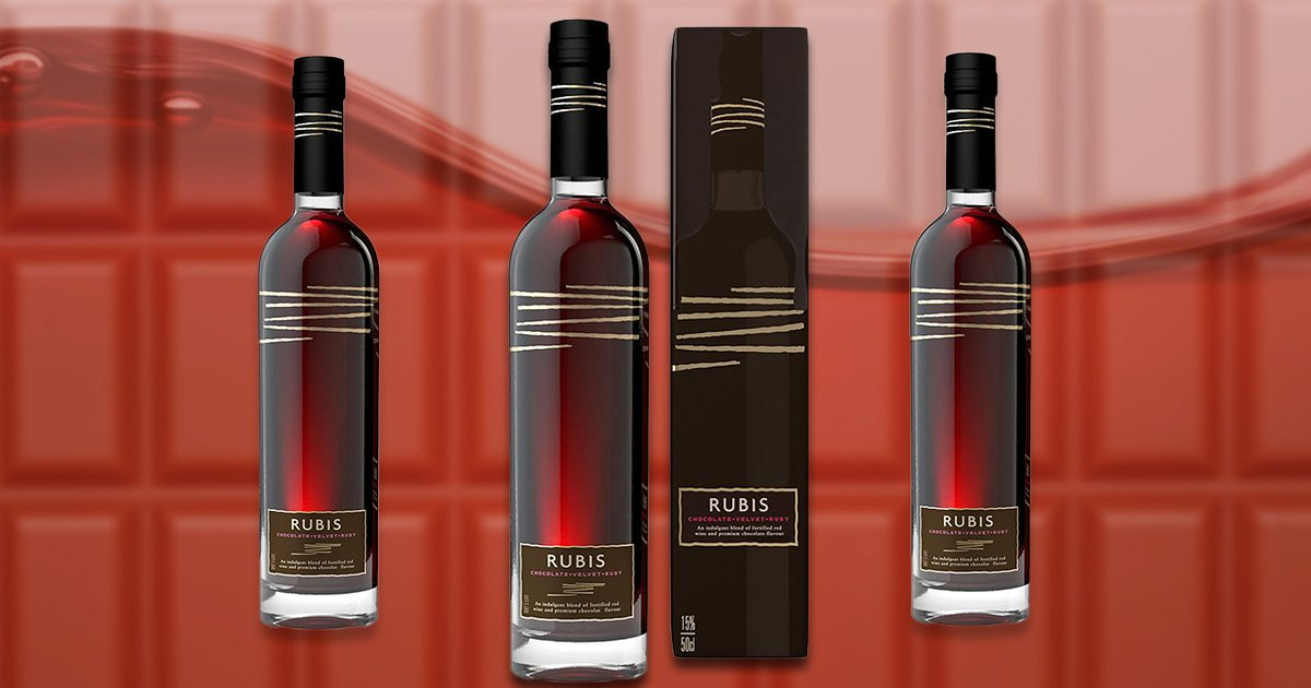 Aldi has relaunched its chocolate wine