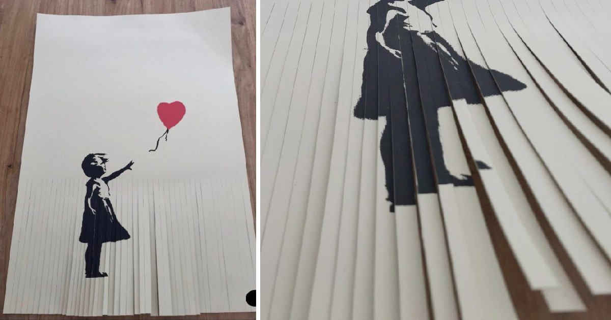 £40,000 Banksy piece now worth just £1 after owner shredded it 'to increase value'