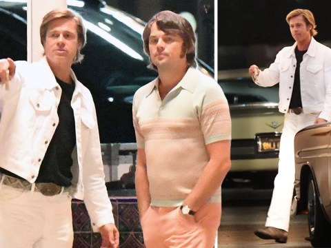 We really hope Brad and Leo don't keep those haircuts after Once Upon A Time In Hollywood
