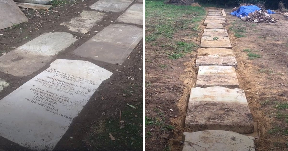 Church shows 'lack of respect' by using tombstones as footpath