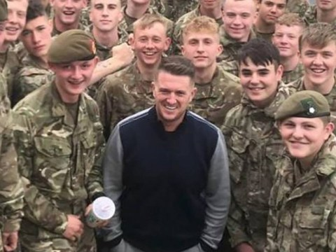 This is why a soldier could be kicked out of the army for chanting Tommy Robinson's name