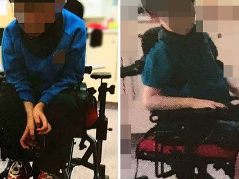 School staff strap boy, 5, into chair by his ankles then send pictures to his mum