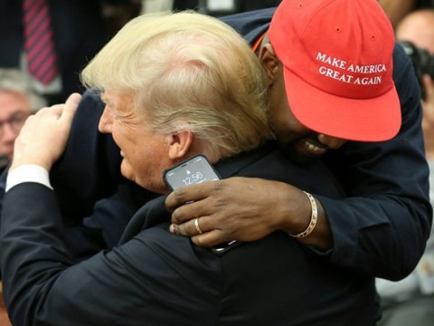 Kanye West digs out his MAGA hat to hug it out with Donald Trump in White House meeting