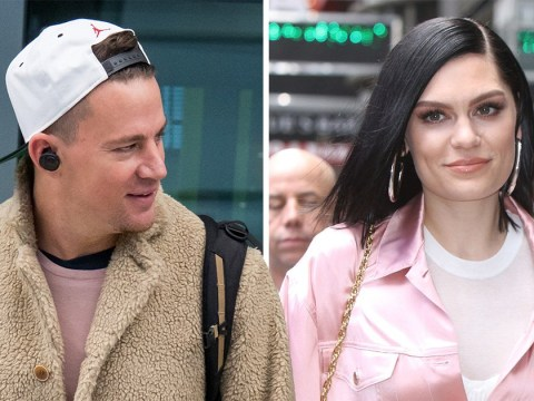Channing Tatum arrives in London with a big grin on his face – could he be here to visit new 'girlfriend' Jessie J?