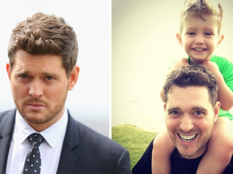 Michael Buble walks out of emotional interview about his son's cancer battle