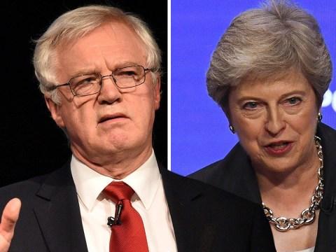David Davis wants cabinet mutiny to kill Theresa May's Brexit plan