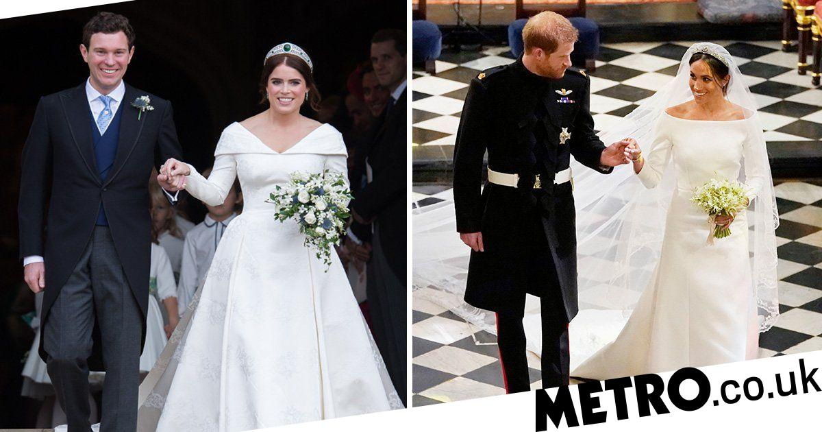 Eugenie S Gown Beats Meghan Markle S Wedding Dress As They Go Head