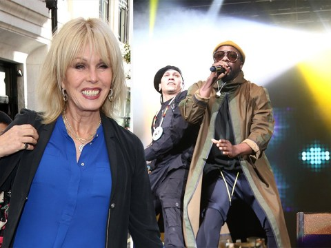 Hang on, Joanna Lumley is hosting Black Eyes Peas documentary?