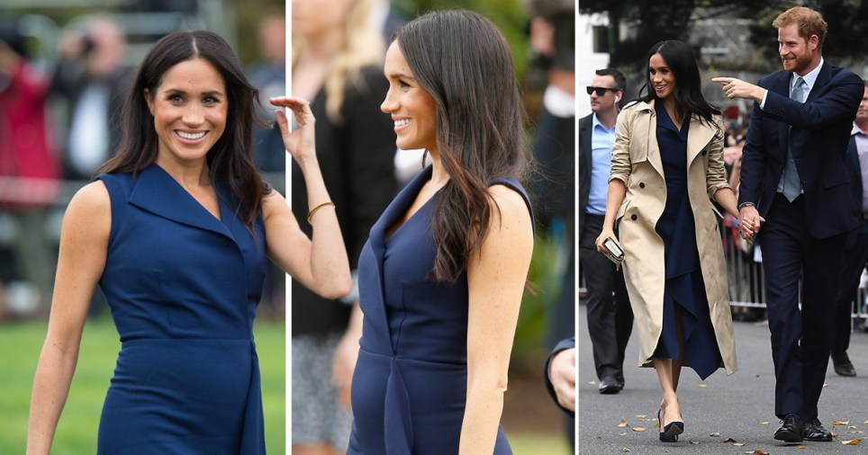 79716d82d3684 Meghan Markle and her baby bump proudly walked around Melbourne on day  three of the royal visit to Australia (Picture: WILLIAM WEST/AFP/Getty  Images)