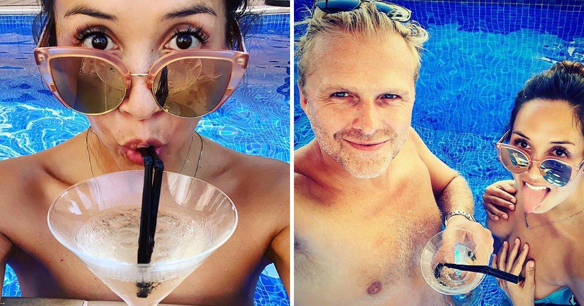 Myleene Klass shares rare selfie with boyfriend Simon Motson as pair enjoy romantic getaway