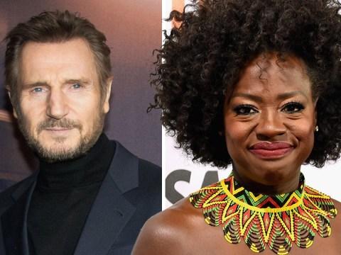 Viola Davis says kissing 'hunky' Liam Neeson as a black woman in Widows is groundbreaking