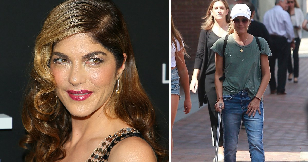 Selma Blair seen walking with cane after bravely revealing multiple sclerosis diagnosis