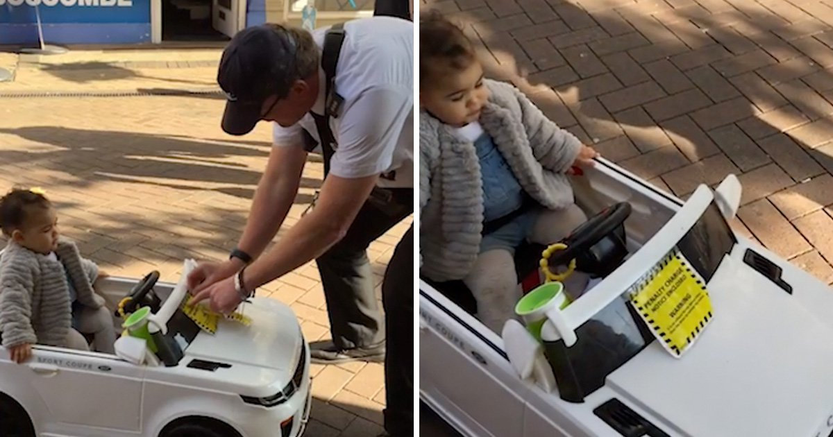 Traffic warden 'gives toddler without permit a parking ticket'