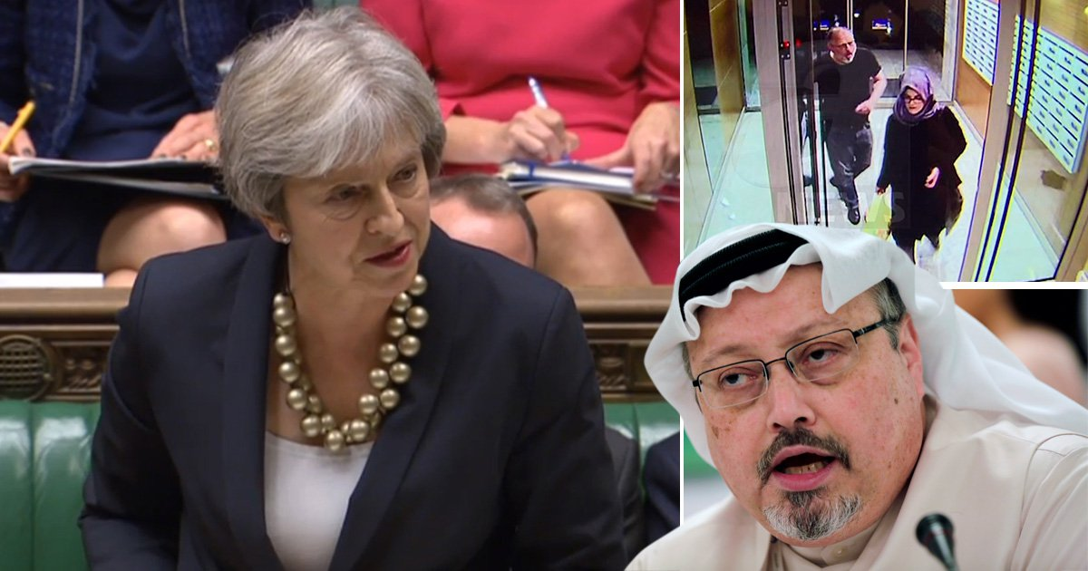 Theresa May condemns Jamal Khashoggi killing 'in strongest possible terms'