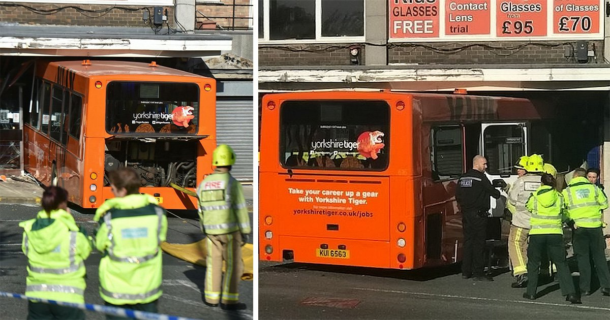 Driver who should've gone to Specsavers crashes bus into optician