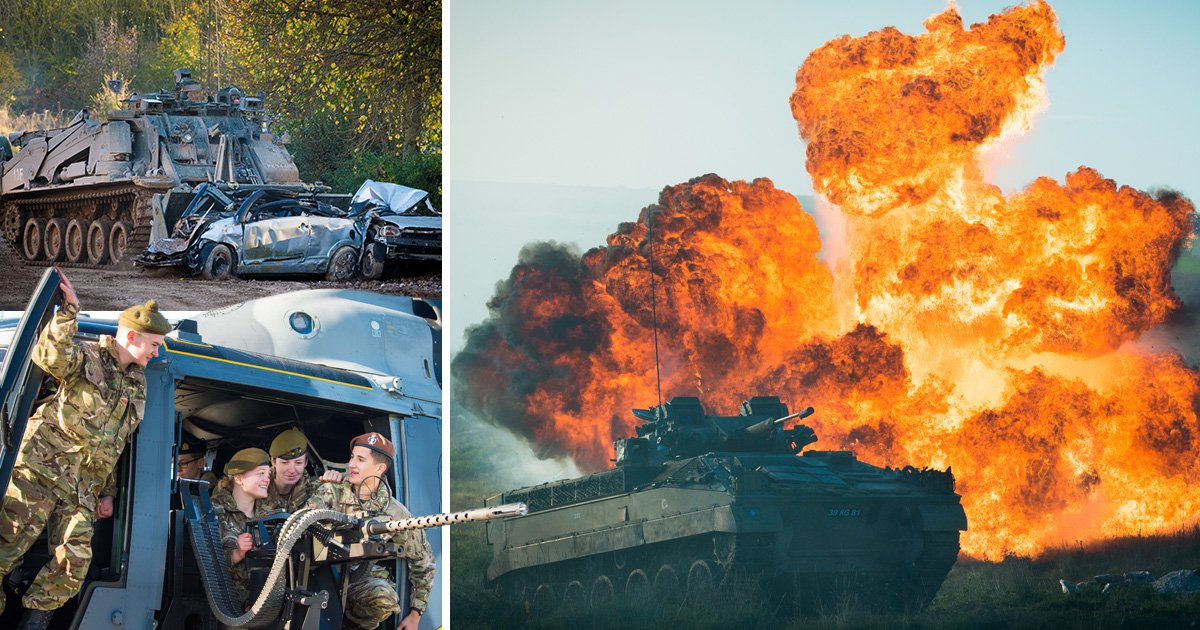 Incredible pictures show British Army's power and technological capability