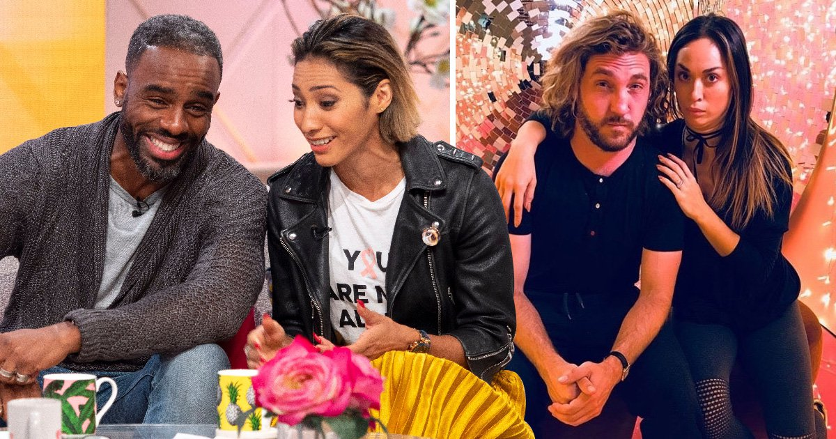 Strictly's Karen Clifton and Charles Venn are paying no attention to Katya Jones and Seann Walsh kiss