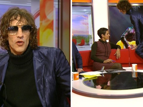 Richard Ashcroft climbs over the set and claims 'life is like The Truman Show' in bizarre interview