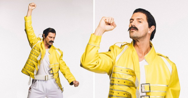 Paddy McGuiness recreating Freddie Mercury's moustache to launch Movembers annual Grow a Mo campaign