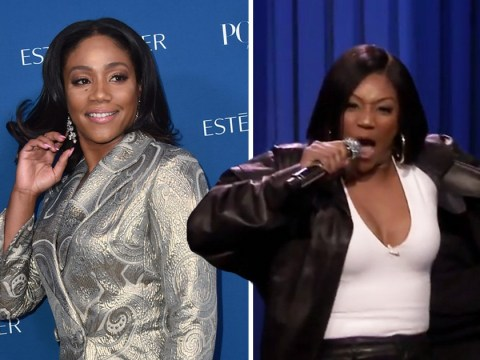 Tiffany Haddish proves to be the queen of lip sync as she channels James Brown on Jimmy Fallon's Tonight Show