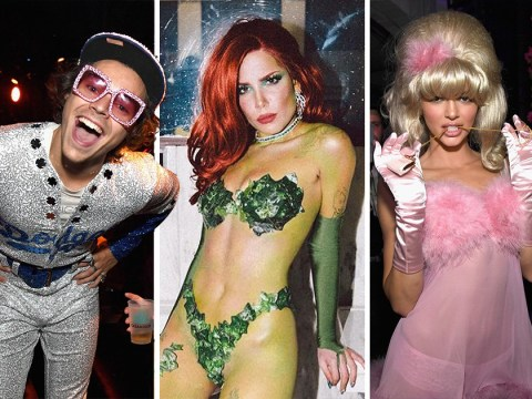Halsey wins Halloween 2018 in Poison Ivy costume as Joe Jonas and Noah Centineo channel Disney divas