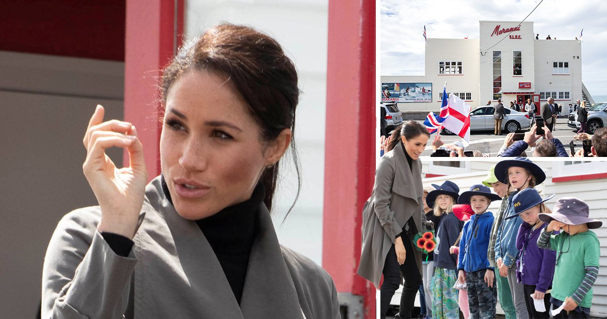 Meghan Markle rushes back into cafe to bring leftover cake to waiting children