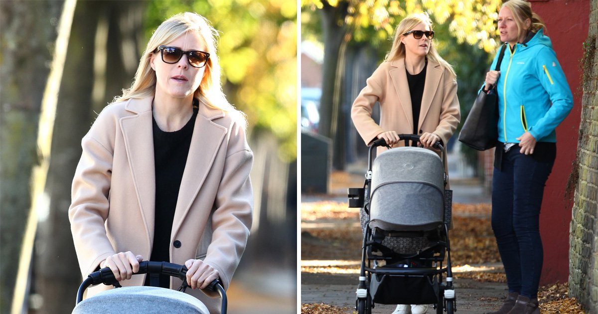 Declan Donnelly's wife Ali Astall takes baby Isla for stroll in London ahead of trip to Austalia for I'm A Celebrity stint