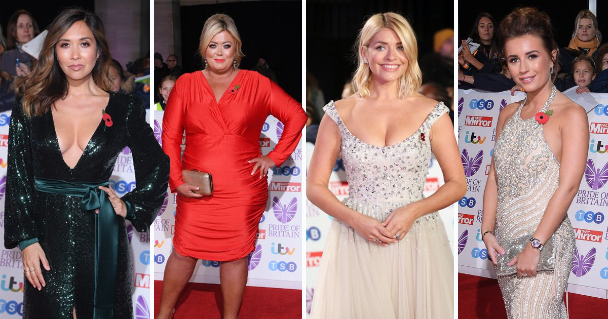 Holly Willoughby and Love Island's Dani Dyer lead the glamour at the Pride Of Britain Awards 2018
