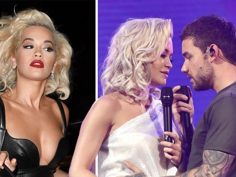 Rita Ora teams biker and bombshell in leather gown after putting on steamy performance with Liam Payne