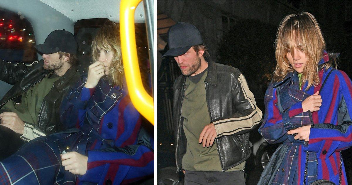 Robert Pattinson and Suki Waterhouse stoke romance rumour flames falling out of club at 2am