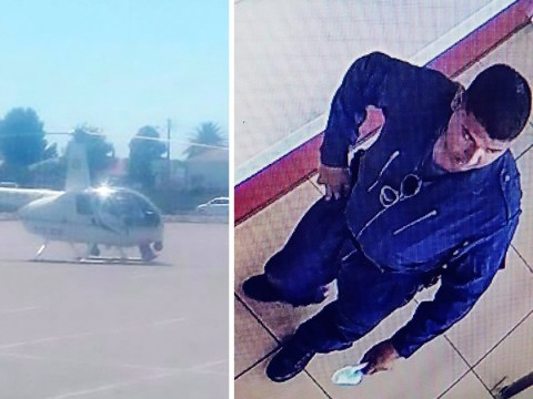 Pictures show police pilot 'landing helicopter in car park to go to KFC'