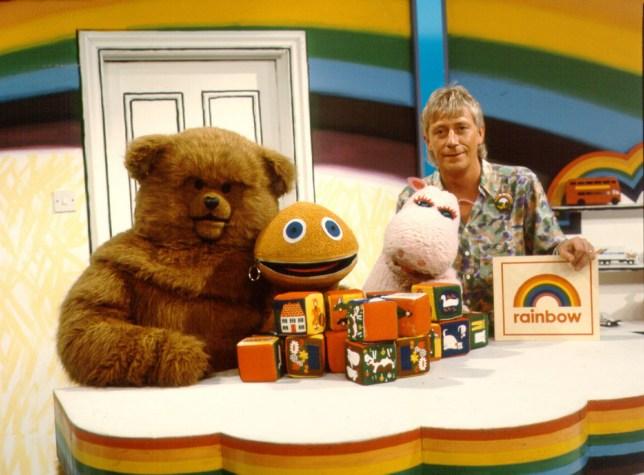 Editorial use only Mandatory Credit: Photo by FremantleMedia Ltd/REX/Shutterstock (854357ho) 'Rainbow' - Bungle, George, Zippy and Geoffrey Hayes Thames TV